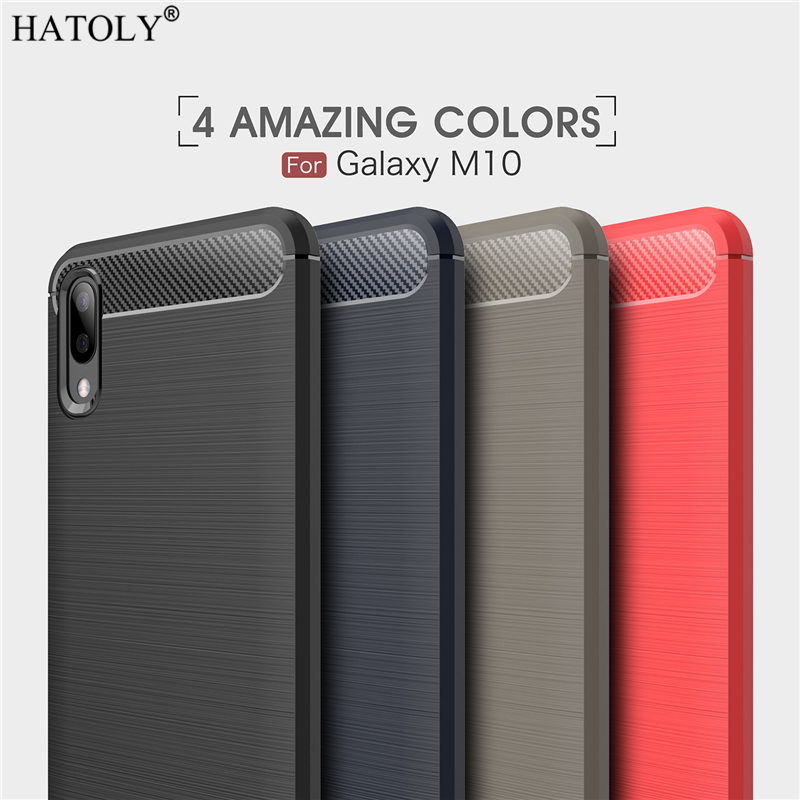 For Samsung Galaxy M10 Case Business Style Soft Silicone Rubber Phone Case for Samsung Galaxy M10 Cover for Samsung Galaxy M10