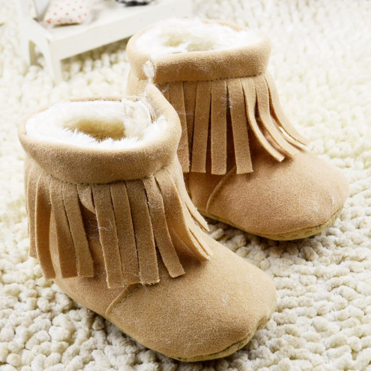 2017 Fashion baby girls tassel boots infant snow boots todddler girls crib shoes first walkers cotton fabic for girls