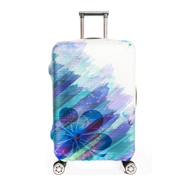 Brand 3D Portable Elastic Travel Luggage Cover Stretch Protect Suitcase Cover Apply to 18-32 Inch Case Waterproof Luggage Covers Luggage Covers