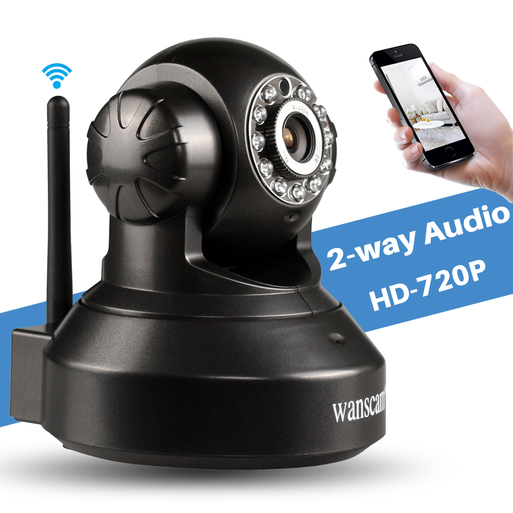 Wanscam HW0024 Wireless CCTV Security Surveillance 1MP HD 720P Wifi IP Camera P2P Pan/Tilt 2 Way Audio IR Night Vision Monitor