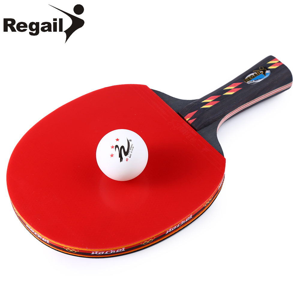 REGAIL D003 1 Satz Durable Tisch Tennisschläger Ping Pong Paddel-schläger + wasserdichte Tasche Tasche + Ping Pang Ball Tischtennis Zubehör