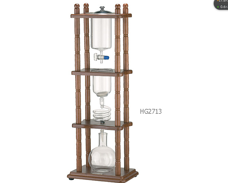 Tiamo water drip coffee maker /water dripper coffee maker/ice &cold drip coffee maker 750cc urnex dezcal coffee maker