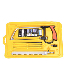 8 in 1 Multifunction Hand Steel Saw hacksaw frame with 6 Blades Kit box DIY Metal Wood saw cutting Hobby Outdoor Surival Tool