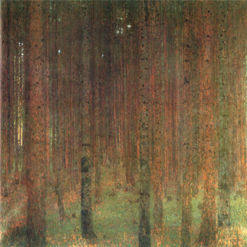 Handmade oil painting reproduction Pine Forest II by Gustav Klimt