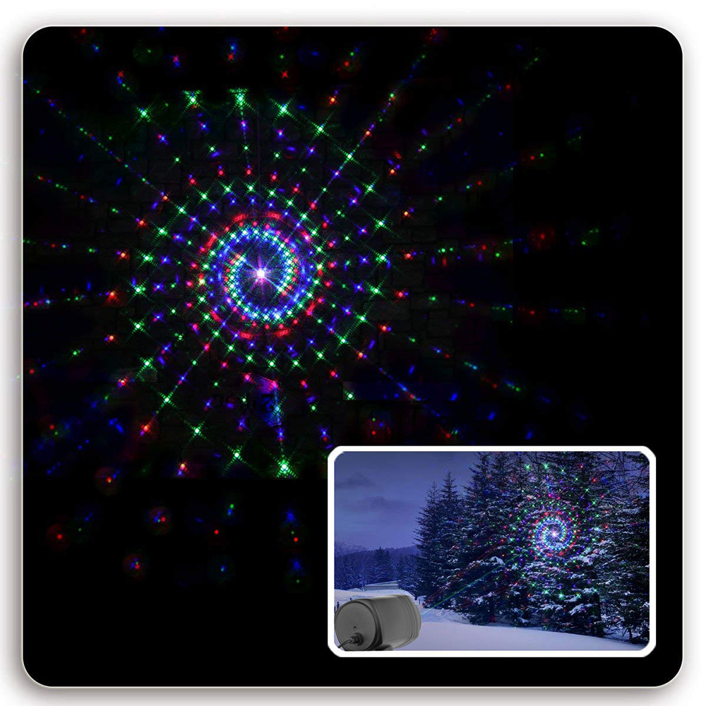 Christmas Garden Laser Lights Moving RGB Stars 20 Patterns Projector Showers Outdoor Waterproof IP65 RF Remote