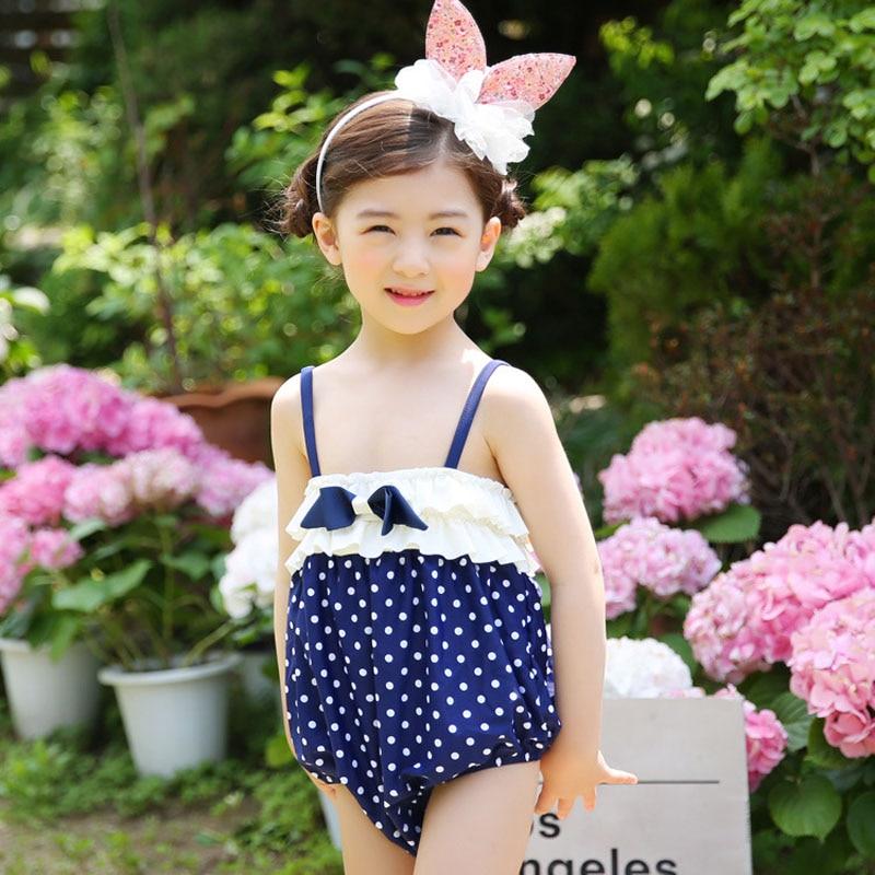 2017 Limited Sale Swimwear Girls Swimwear Kids Floral Girl Bikini Swimsuit Cute Child Two Pieces Set Swim Fcsw171