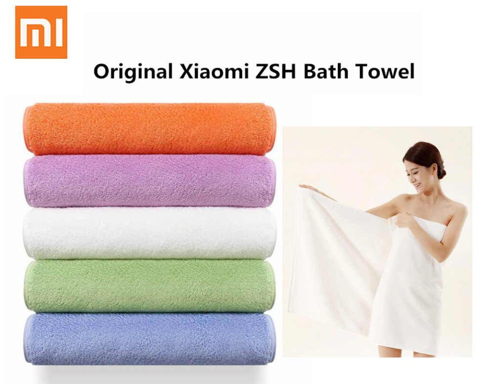 Xiaomi ZSH Bath Towel 100% Cotton Strong Water Absorption Polyegiene Antibacterial Baby's Bathing Towels free ship
