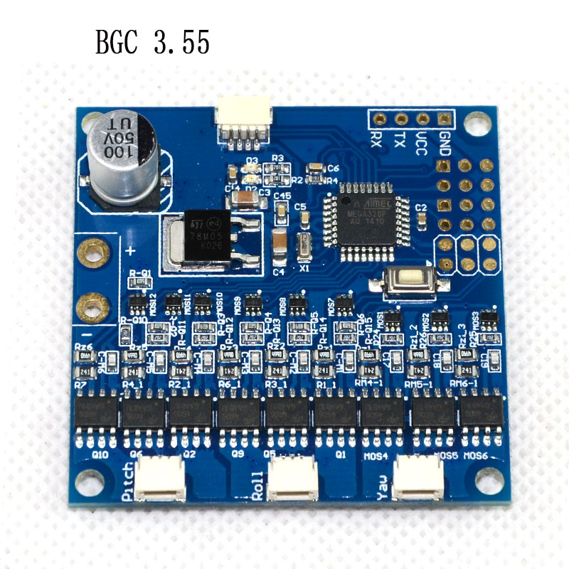 BGC3.55 3 Axis MOS Tube Integrated Version Control Board Upgrade Rc Accessories FCMODEL with 20pcs mos 3878 tube general field tube zx7315 500 upper inverter board mos tube welding machine repair upper plate control