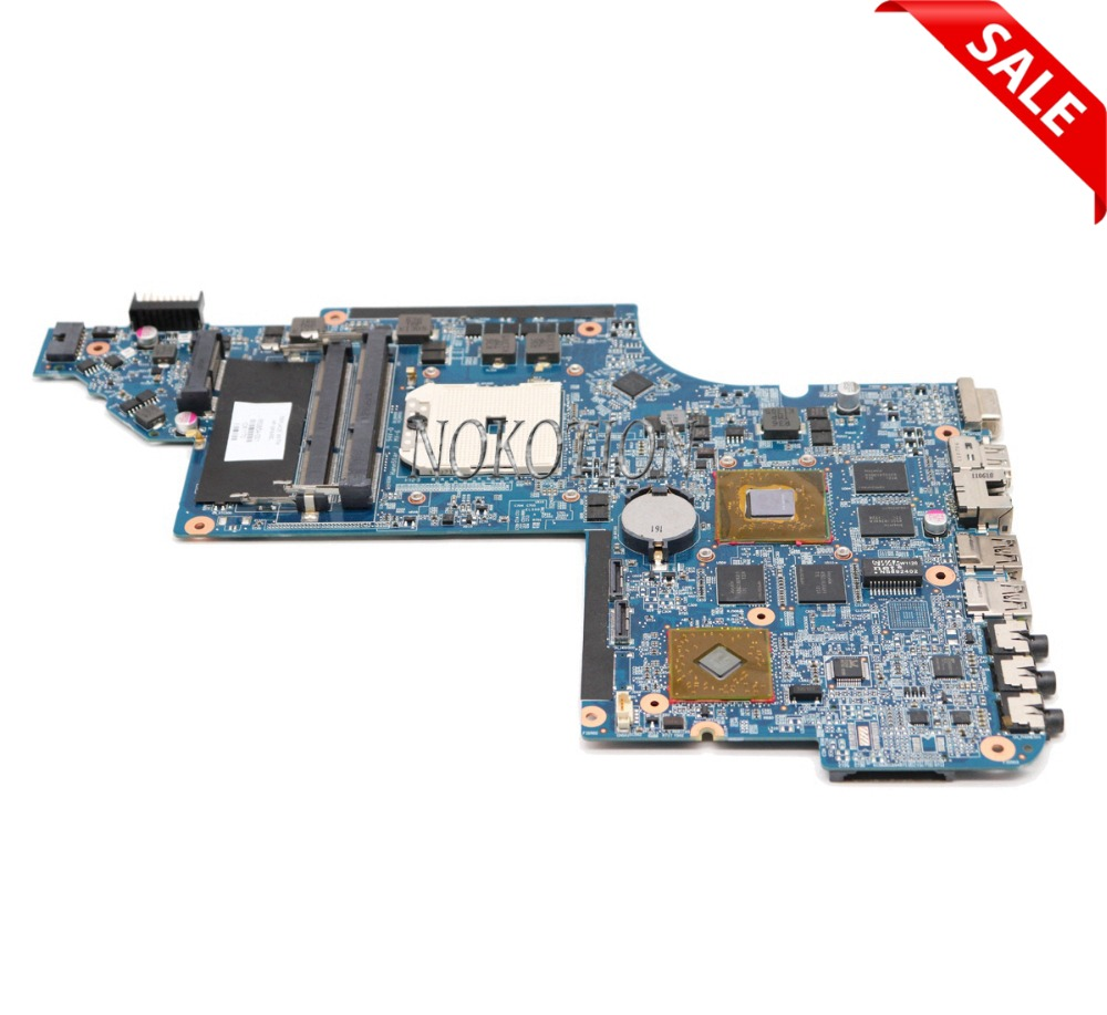 NOKOTION laptop motherboard for HP PAVILION DV6 SYSTEMBOARD HD6750 1GB GRAPHICS MEMORY 650854-001 665284-001 665281-001 for hp pavilion dv6 6000 dv6z 6100 laptop motherboard 650854 001 main board ddr3 hd6750 1g 100