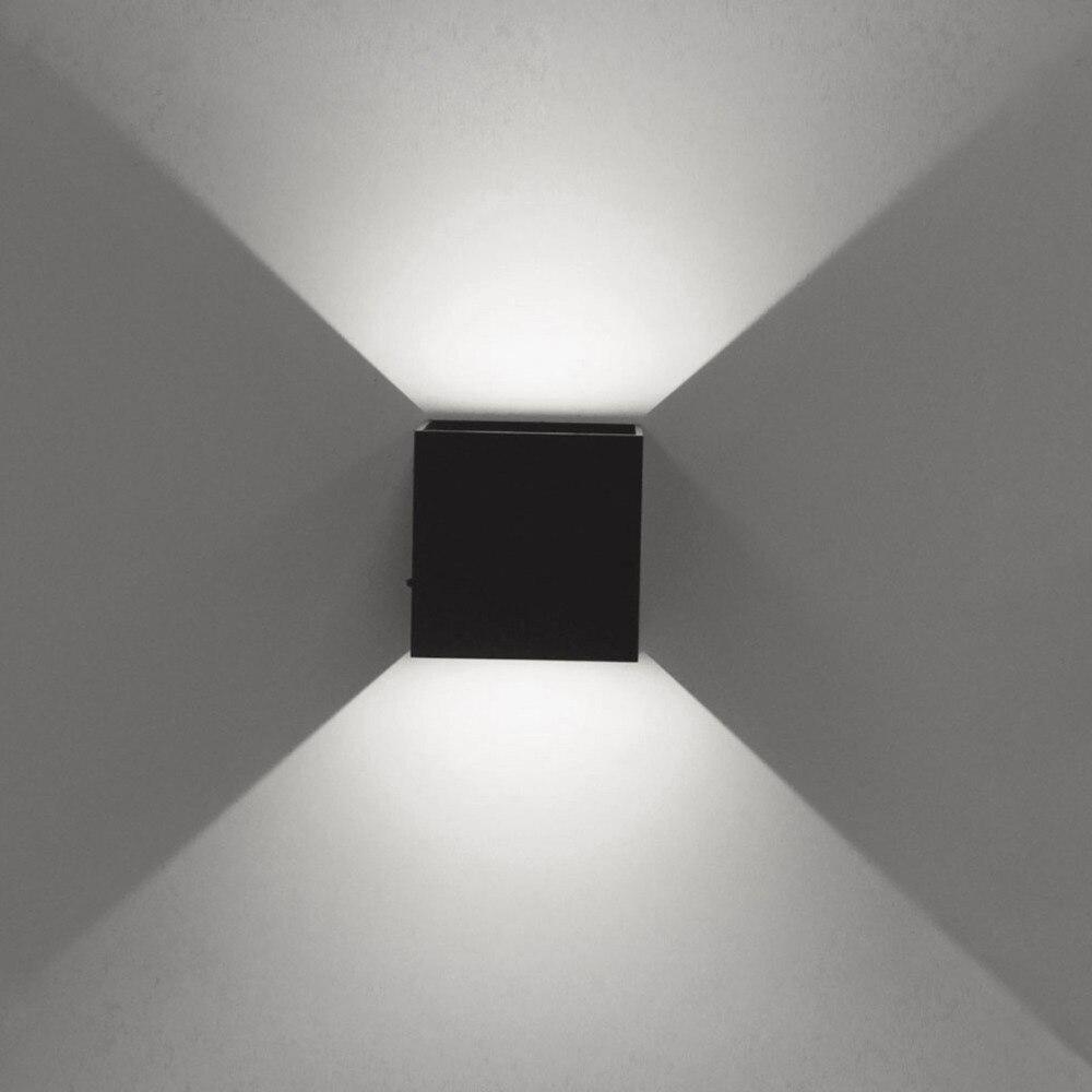 15 98 35 De Reduction Jiawen 5 W Mur Led Lumieres En Aluminium Haut Et Bas Applique Eclairage Led Lampe Cube Pour Salle De Bain Vanite Eclairage In