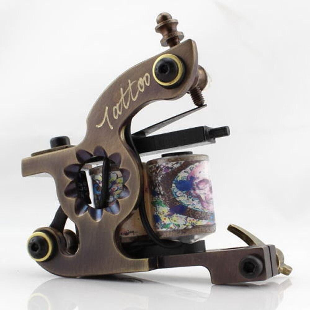 ФОТО BJT New Custom Handmade Authentic Brass Tattoo Machine Preset for Shader Color