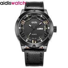 2019 luxury brand  watches men digital sports quartz leather belt waterproof casual wristwatch 3D the literal mens watch