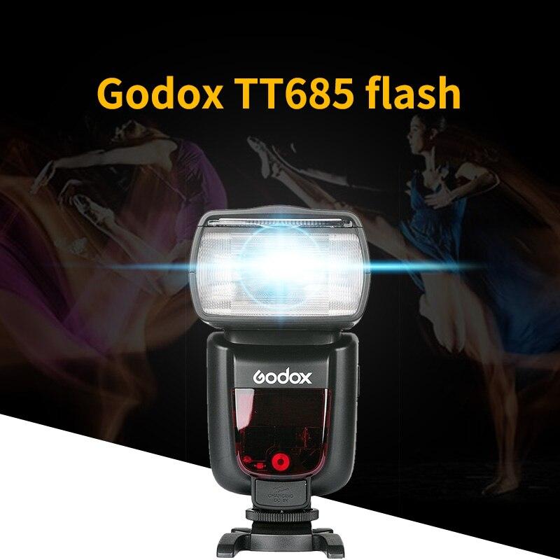 Godox TT685C/S TT685N 2.4G Wireless HSS 1/8000s GN60 TTL Wireless Flash Light Speedlite X1T trigger for Nikon canon sony <font><b>Camera</b></font>