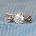 Reina TCW Brillo Elegante G-H Color 1.6 Carat Laboratorio Crecido Moissanite Diamante Stud Pendientes Solid 18 K 750 Oro Blanco