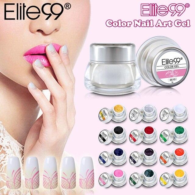 Elite99 3D Nail art Lack Farbe Gel Zeichnen Malerei Acryl Farbe UV Gel Tip DIY Nail art Pick Jede 1 farbe In 12 Verschiedenen Farben