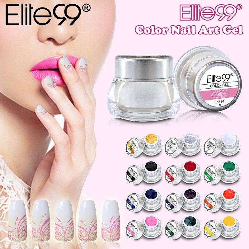 Elite99 3D Nail Art Peinture Couleur Gel Dessiner Peinture Acrylique Couleur UV Gel Pointe bricolage Nail Art Choisir 1 Couleur En 12 Couleurs Différentes