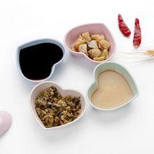 купить 1PC heart shape Soy Sauce Dish Multipurpose Small Seasoning Saucers Appetizer Plates for Vinegar/Salad Soy Sauce/Wasabi дешево