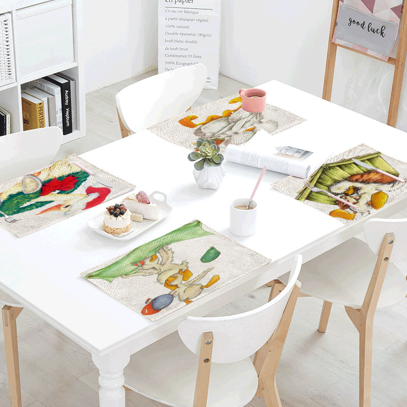 42x32cm Table Cloth Cosplay Duck Linens Table Napkins Tea Placemat Place Mat Polyester Potted Plants Design Party Decoration
