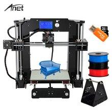 2017 Анет A8 A2 A6 Desktop 3D-принтеры Высокая точность RepRap Prusa i3 FDM Технология DIY 3D-принтеры комплект подарок нити 8 г SD карты