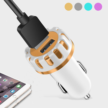 5V 2.1A Dual Port Fast Car Charger Tablet Phone Mini Adapter with Micro USB Data Cable Charging Accessories Plug