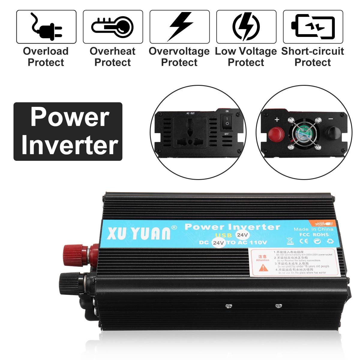 Sine Wave DC-AC Car Inverter 12V to 220V 2000W Power Inverter Volts Converter Adapter Charger Transformer Vehicle