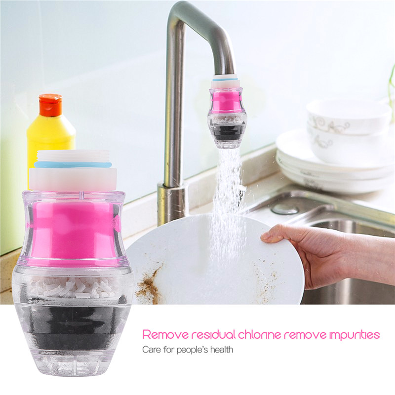 Activated Carbon Water Cleaner Faucet Mounted Water Filter 5 Layers Filtration Water Purifier Mini Household Tap Water Filter 31