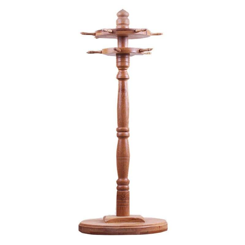 Bambu Pincel de Caligrafia Caneta Titular Dupla Camada 11 Ganchos Cabide Suporte de Suspensão da Pena Da Escova Rotativa Resto Arte Suprimentos Caligrafia