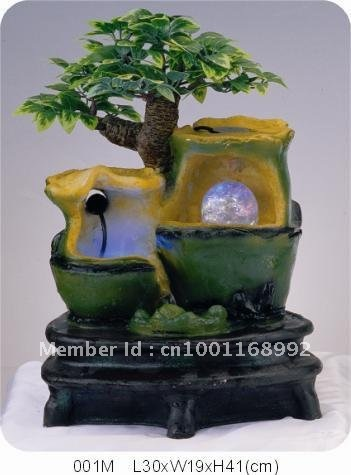 001M Polyresin Rockery Water Fountain,Aquarium Indoor Fountain