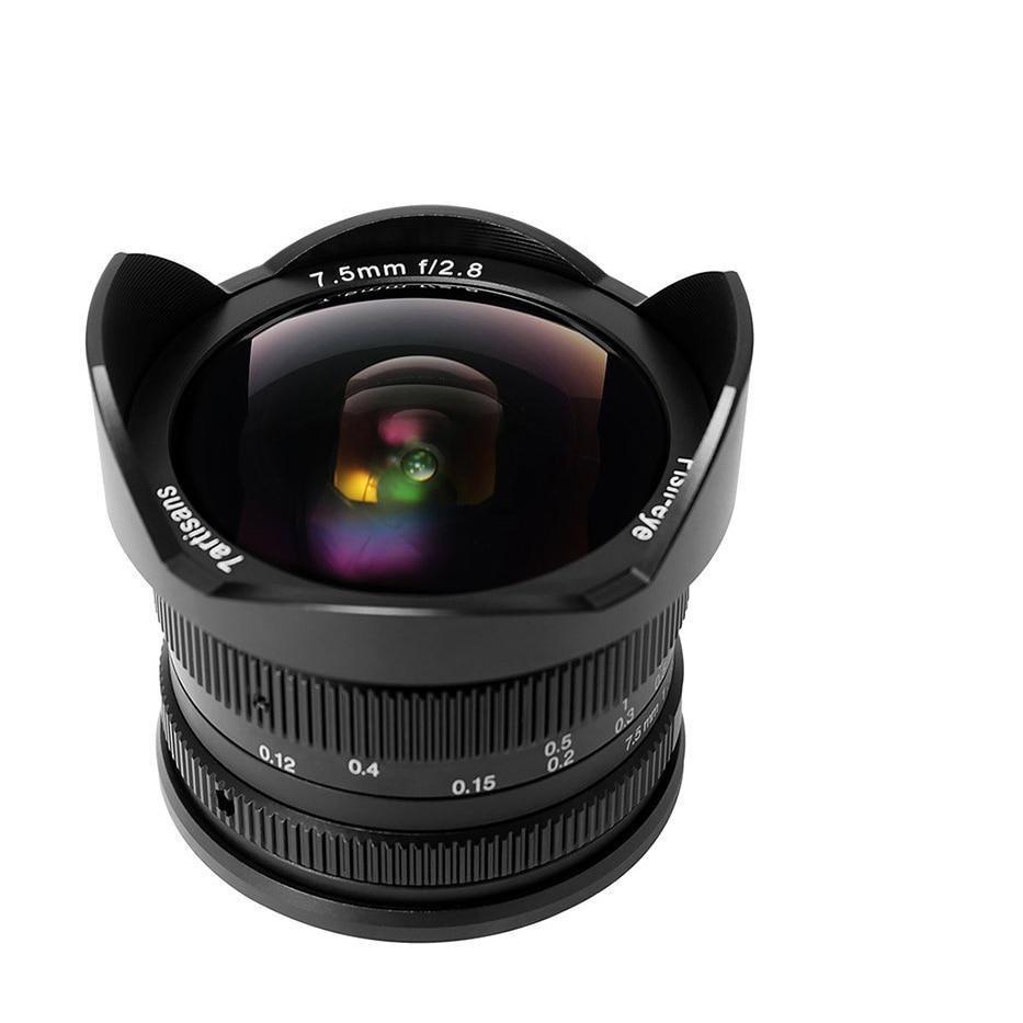 7 artisans 7.5mm f2.8 Fisheye Objectif APS-C Manuel Objectif Fixe Pour Sony E Mont A1 A7ii a6500 A6300 A6000 A5100