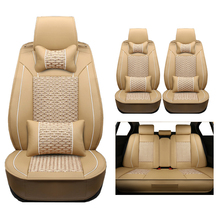 The (leather+silk) Car Seat Covers for Mazda 3 6 CX-5 CX7 323 626 M2 M3 M6 Axela Familia cars accessories-styling auto protector