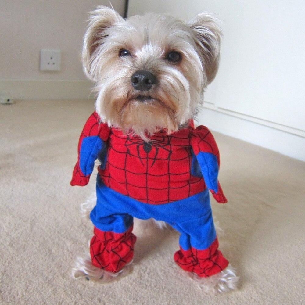 Halloween <font><b>Pet</b></font> Dogs <font><b>Costumes</b></font> <font><b>Spiderman</b></font> Apparel Cool Cats Coat Clothing for Small <font><b>Pets</b></font> Disfraz de Perro Yorkies Clothes 20