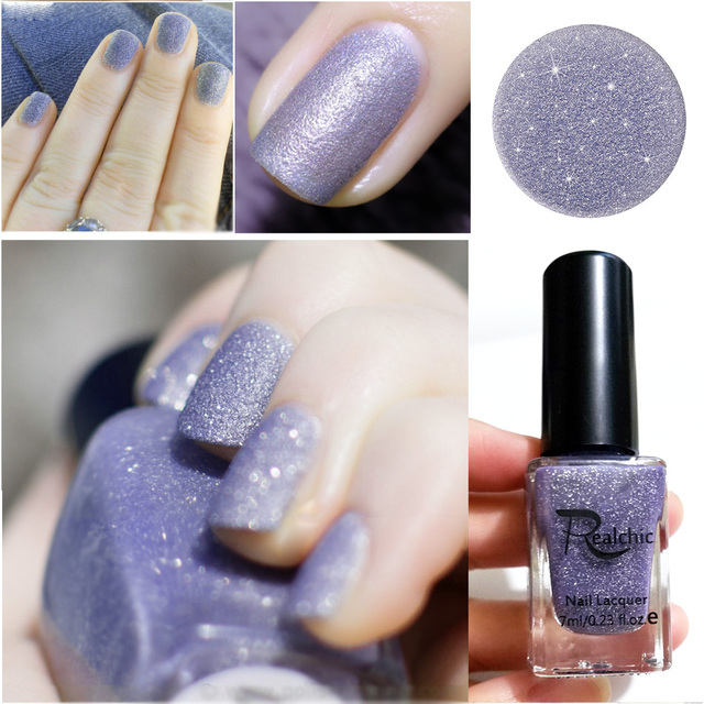 2018 Newest Realchic Brand Glitter Liquid Sand Texture Gel Nail Polish Matte Varnish Art