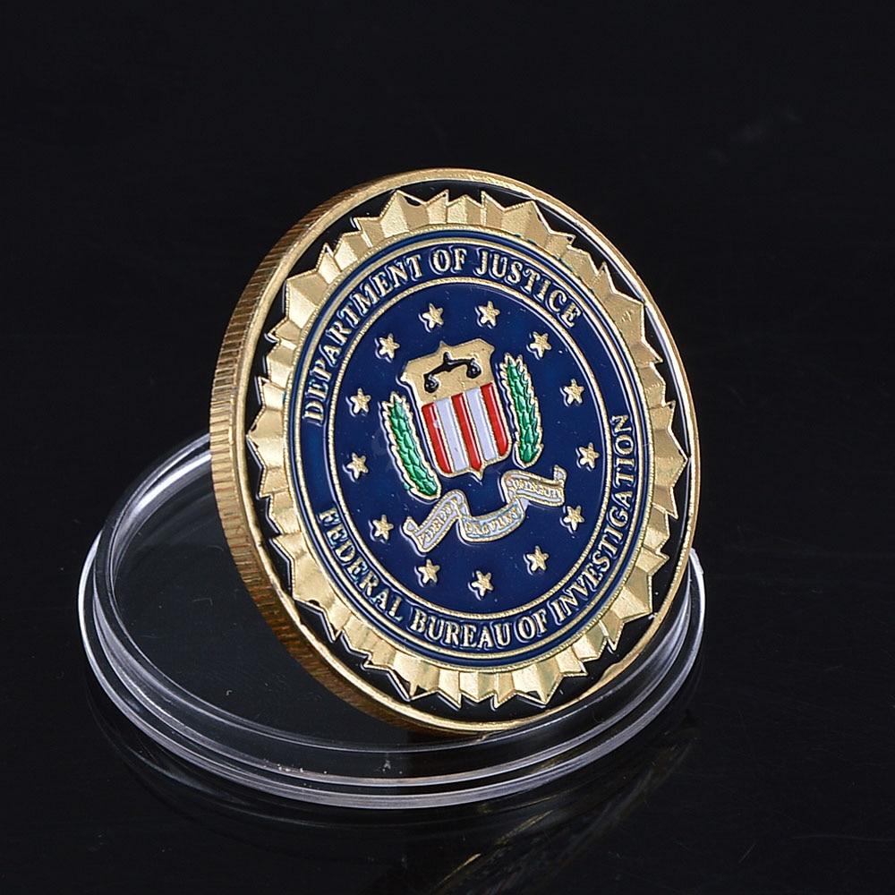 Partihandel Novelty Colorful Pure Gold Plated Mynt av US Department - Heminredning - Foto 2