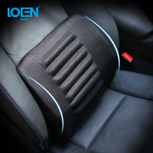 LOEN Sponge Car Seat Lumbar Cushion Massage Back Support For Car Seat Office Home Chair Breathable Cloth Lumbar Support Pillow car seat cover comfort car massage seat cushion lumbar support for office chair back waist brace support car cushion office pad