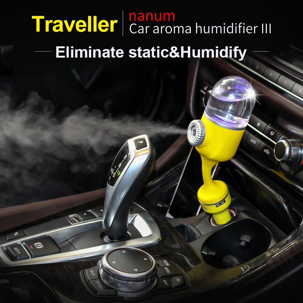 NEW 2018 Nanum Car Aroma Humidifier Cool mist diffuser Car Air Freshener Purifier with Dual USB port Ultrasonic Aromatherapy wholesale solar energy air humidifier car air purifier with filtration system