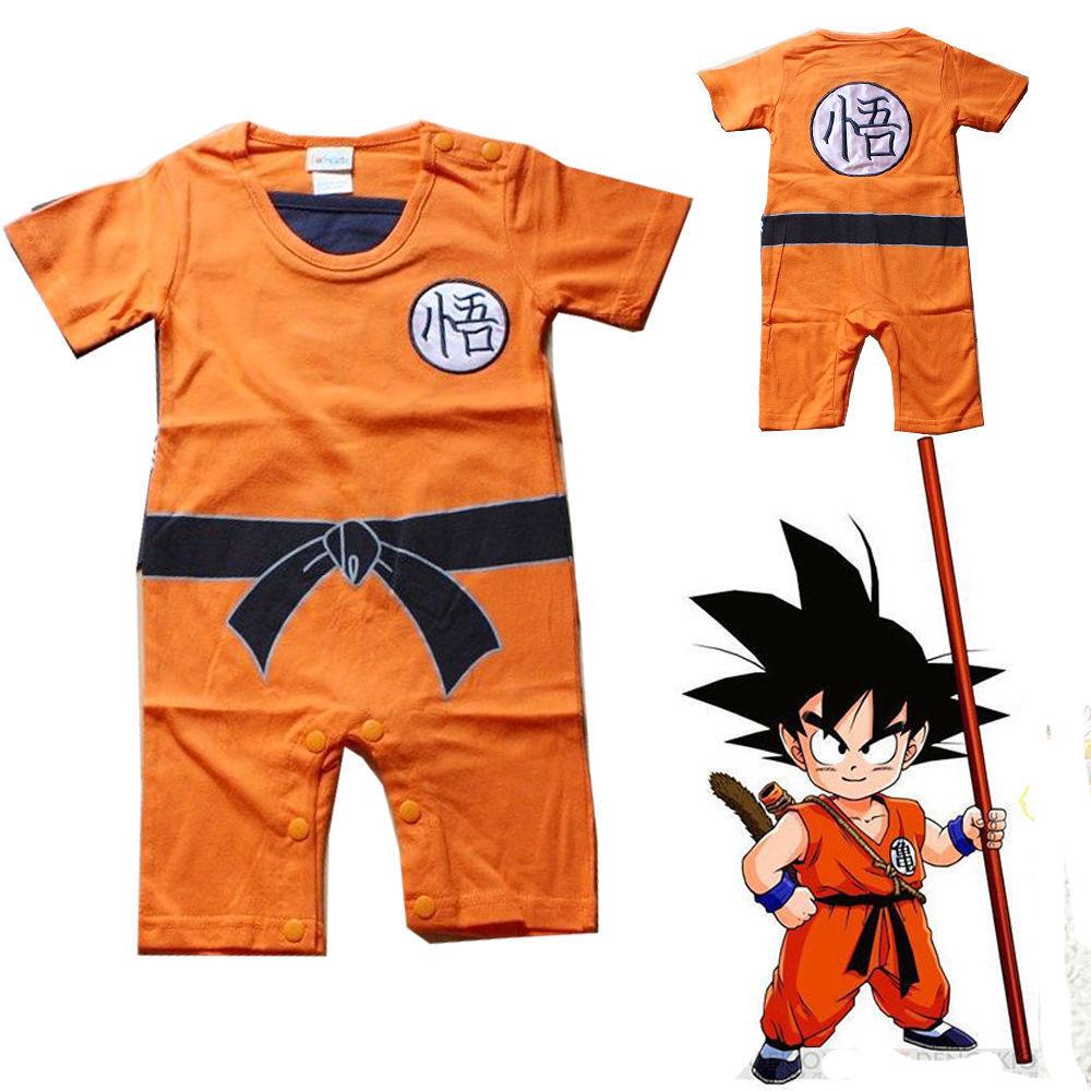 Japanese Anime Dragon Ball Goku Kungfu Jumpsuit Baby Toddler Fancy