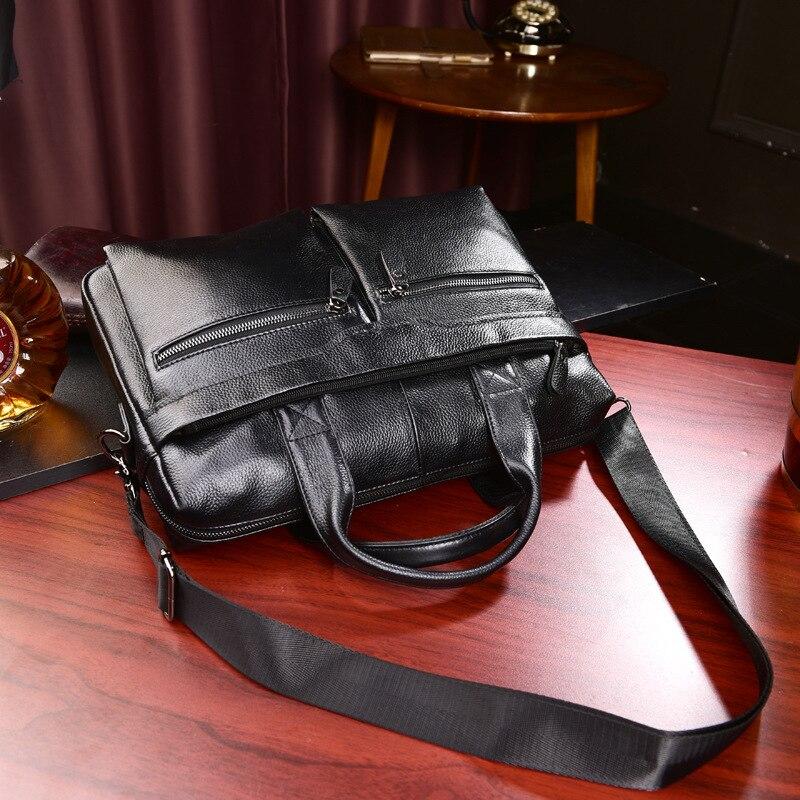 HTB16AqHL4naK1RjSZFtq6zC2VXaJ New Luxury Cow Genuine Leather Business Men's Briefcase Male Briefcase Shoulder Bag Men's Messenger Bag Tote Computer Handbag