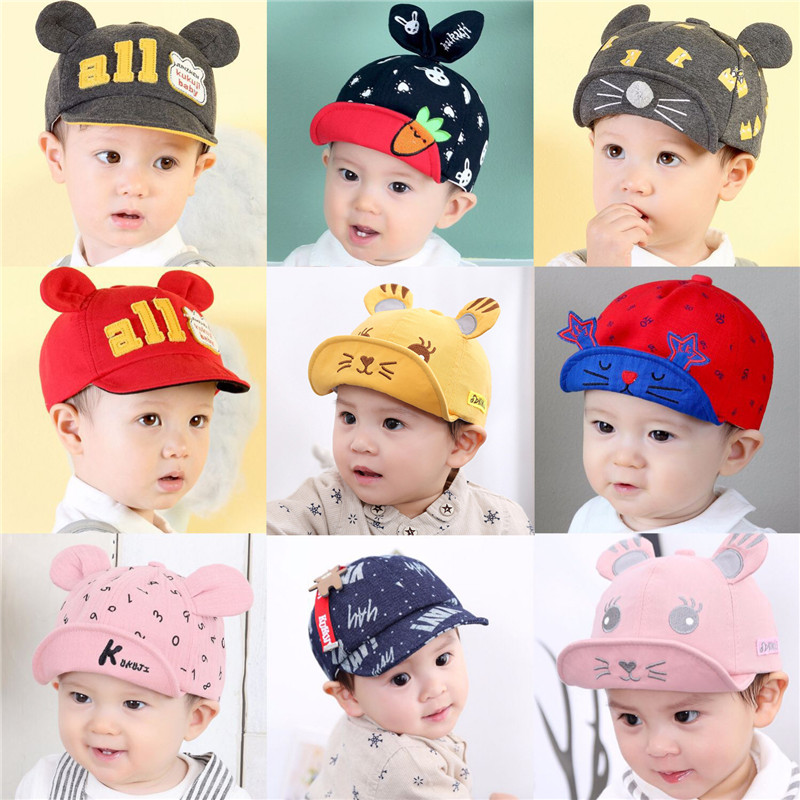 Fast Deliver Ywhuansen Cute Baby Baseball Caps Sunscreen Baby Girls Boys Hats Cartoon A Cap For A Boy Cotton Children's Cap Baby Accessories New Varieties Are Introduced One After Another