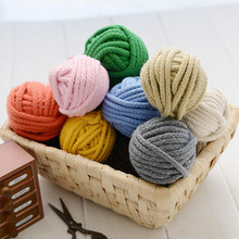 5mm Diy accessories twisted round 100% cotton cord decoration rope Beige cotton rope hand woven drawstring cotton rope 14color other 14color 80