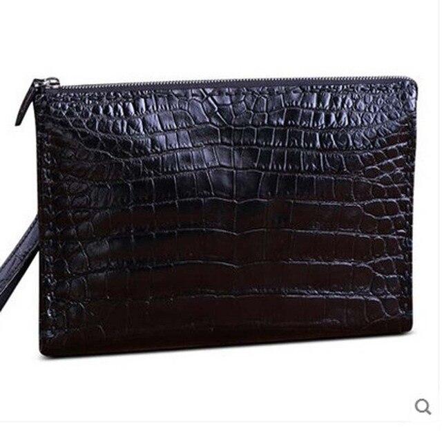 a3af7bde0 heimanba new Crocodile leather men clutch bag male large capacity business  portfolio multi-card Thai alligator grab bag men bag