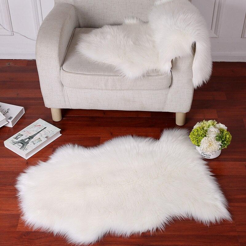 Peluche canapé coussin imitation laine vague tatami tapis en peau de mouton salon carepet balcon fenêtre décoration couverture chambre tapis - 3