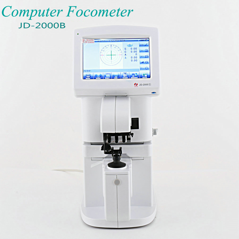 Ordinateur Focus mètre écran tactile ordinateur focomètre lunettes Instrument Intelligent système d'exploitation AC 200 V-240 V JD-2000B