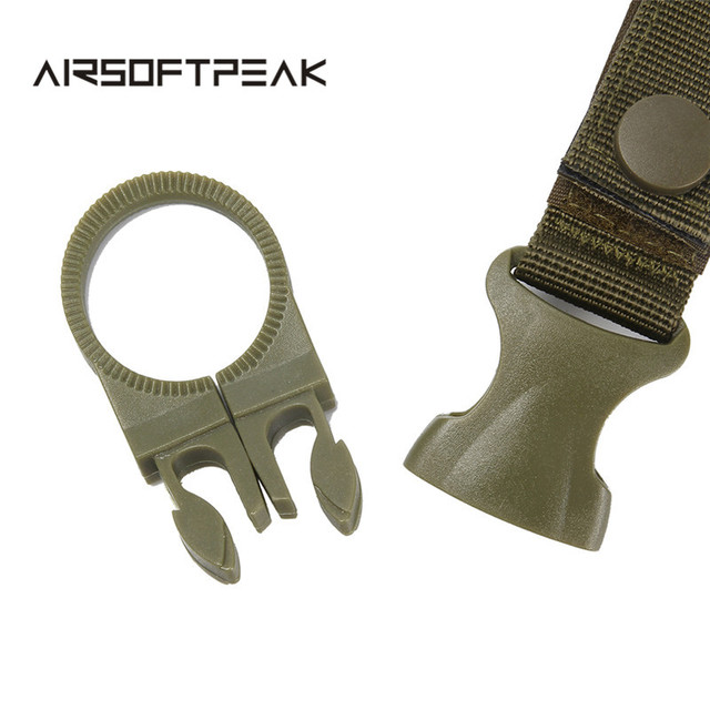 Nylon Molle Webbing Water Bottle Carabiner Belt Backpack Hanger Hook Outdoor Buckle Holder Clasp Tool Clip Hunting Accessories 6