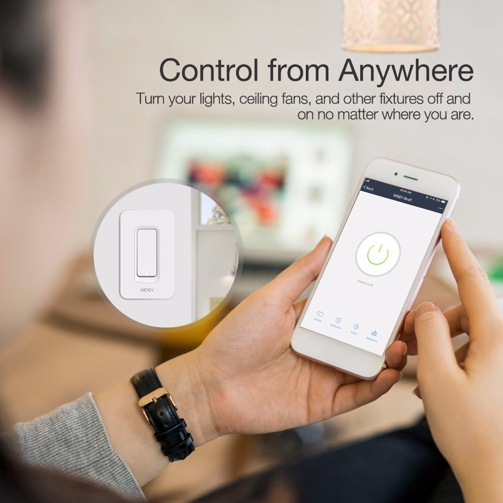Us Wifi Smart Wall Light Switch Mobile Remote Control No Hub Required Works With Alexa Google Home Ifttt In Switches From Lights Lighting On