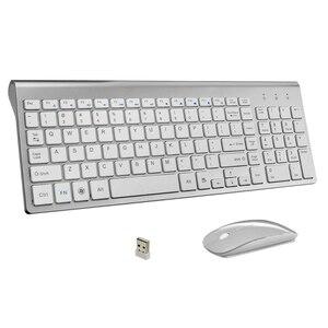 Image 1 - Ultra Dunne Zakelijke Draadloze Toetsenbord en Muis Combo 102 Toetsen Low Noise Draadloze Toetsenbord Muis voor Mac Pc win XP/7/10 Tv Box