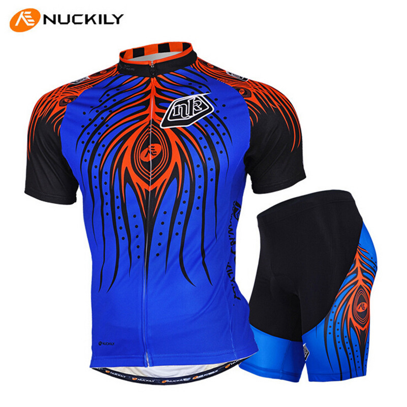 NUCKILY MTB Bike Clothing Shorts Suit Roupa Ciclismo Breathable 3D Gel Padded Retro Bicycle Cycling Jerseys Clothing Shorts Sets