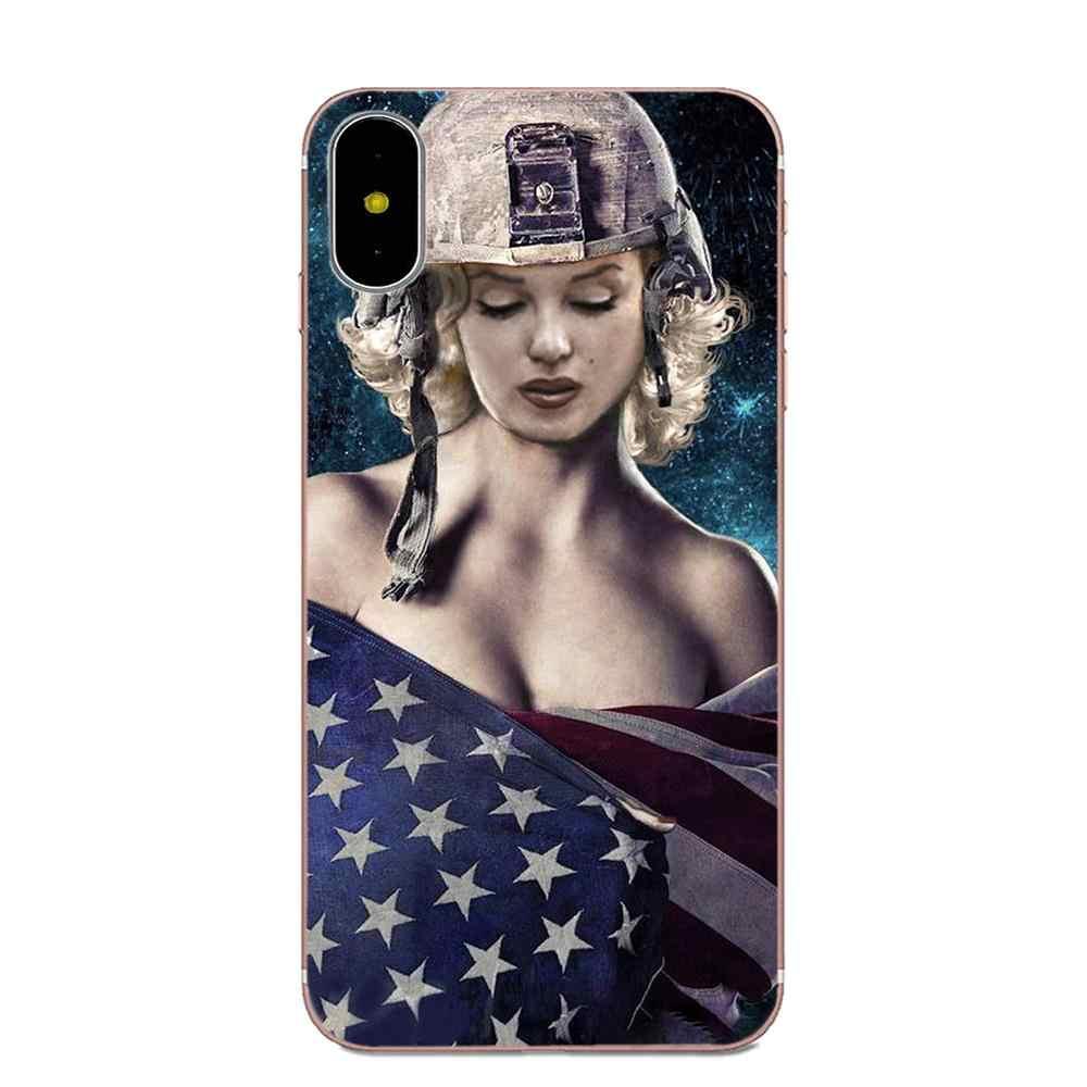 Untuk Galaxy J1 J2 J3 J330 J4 J5 J6 J7 J730 J8 2015 2016 2017 2018 Mini Pro TPU Pelindung kasus Marilyn Monroe