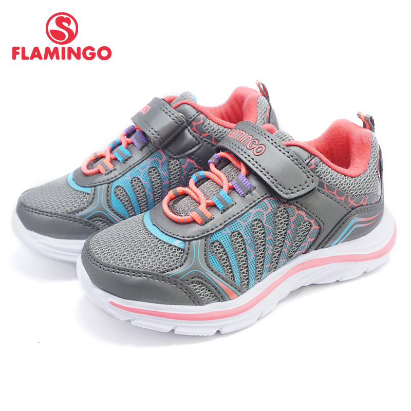 FLAMINGO 2018 orthotics function pig skin insole Hook&Loop breathable Spring girl sneaker separate box free shipping 81K-YC-0603 ...