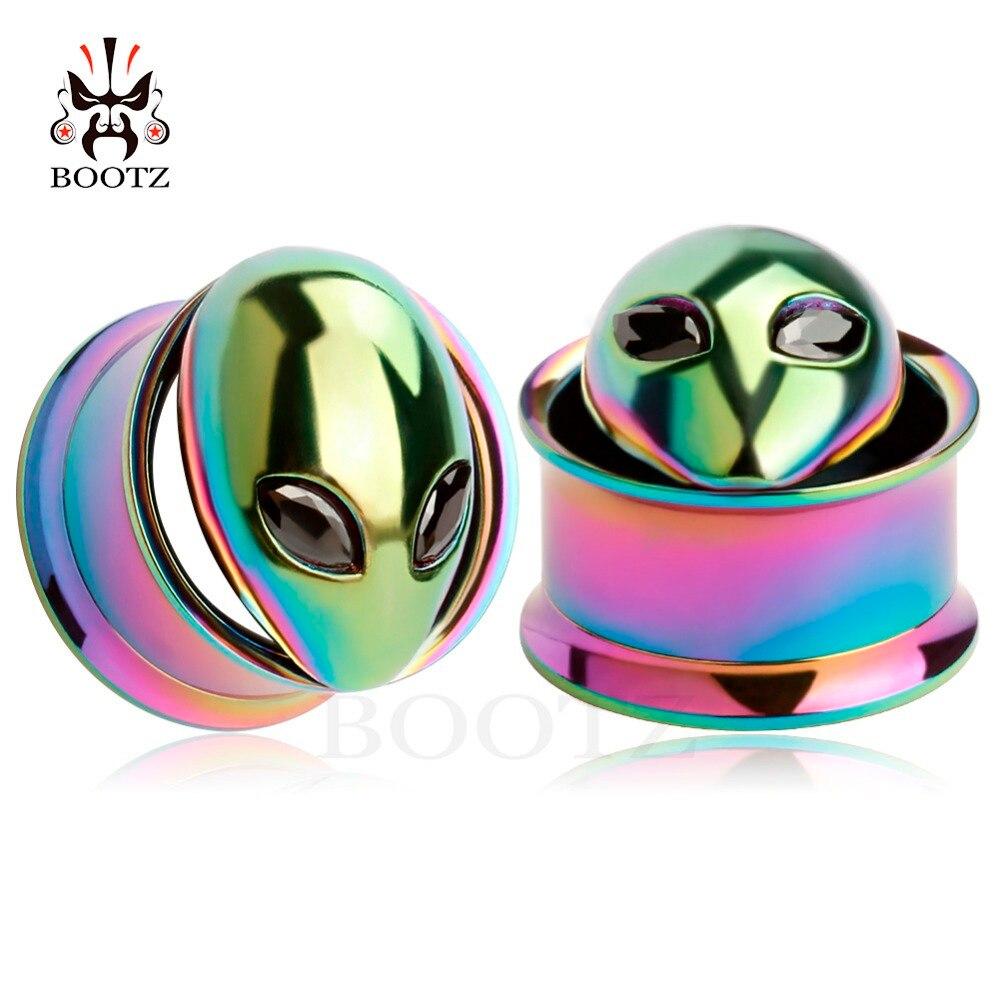 kobber alice logo rustfrit stål ørepropper skrue øre tunneler - Mode smykker - Foto 5