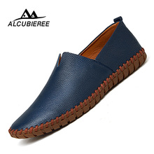 Big Size 39-50 Leather Mens Shoes Summer Breathe Men Luxury Driving Shoes Slip on Casual Male Loafers Hot Sale 2018 New
